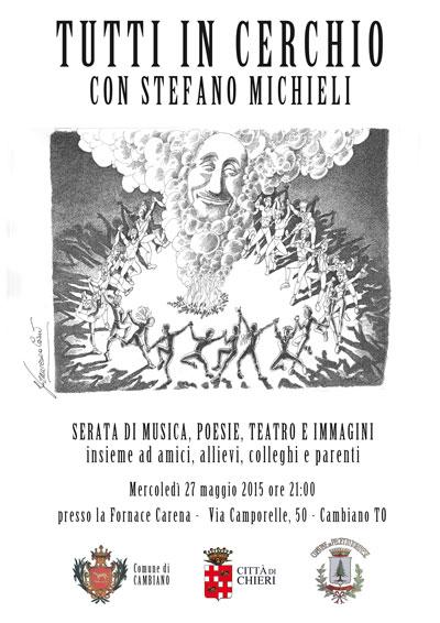 Volantino 27 Maggio 2015 - TUTTI IN CERCHIO CON STEFANO MICHIELI